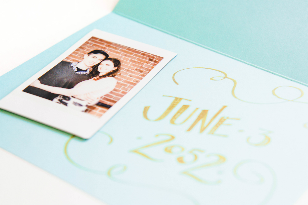 AdTech Save the Date Cards with Alexis the Greek