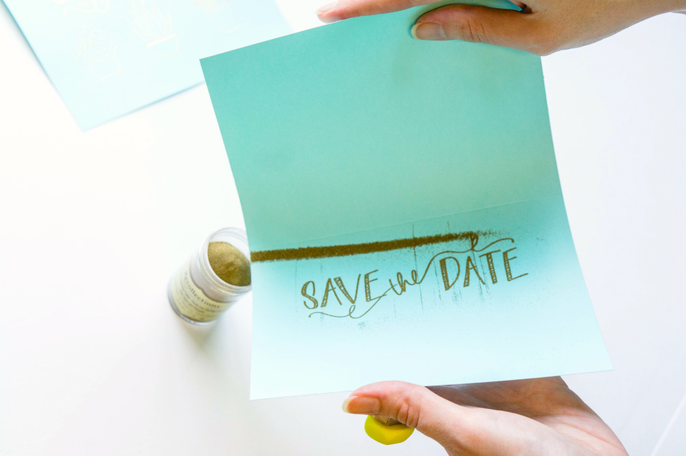 Embossed Invitations or Save the Date Cards