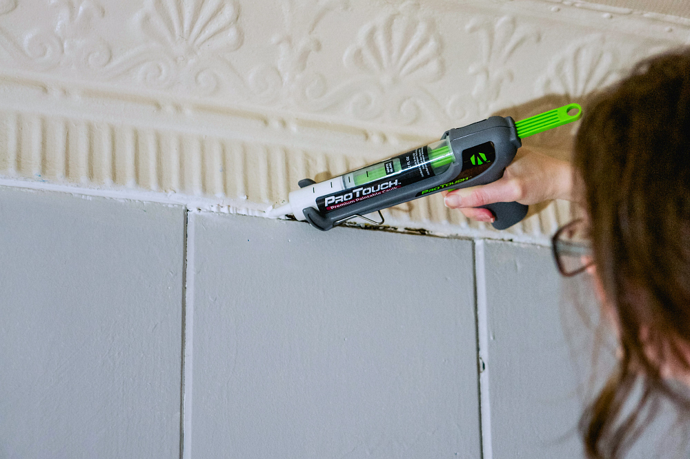 Adhesive Technologies makes over a home office with the ProTouch Caulking Gun