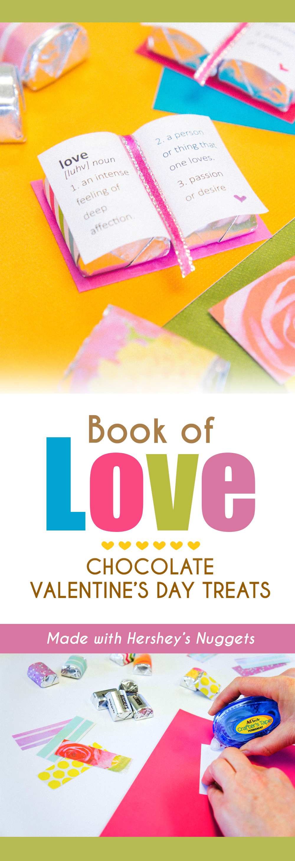 Chocolate Book Of Love - Valentine's Day Treats made with AdTech® Glue Runner Crafter's Tape