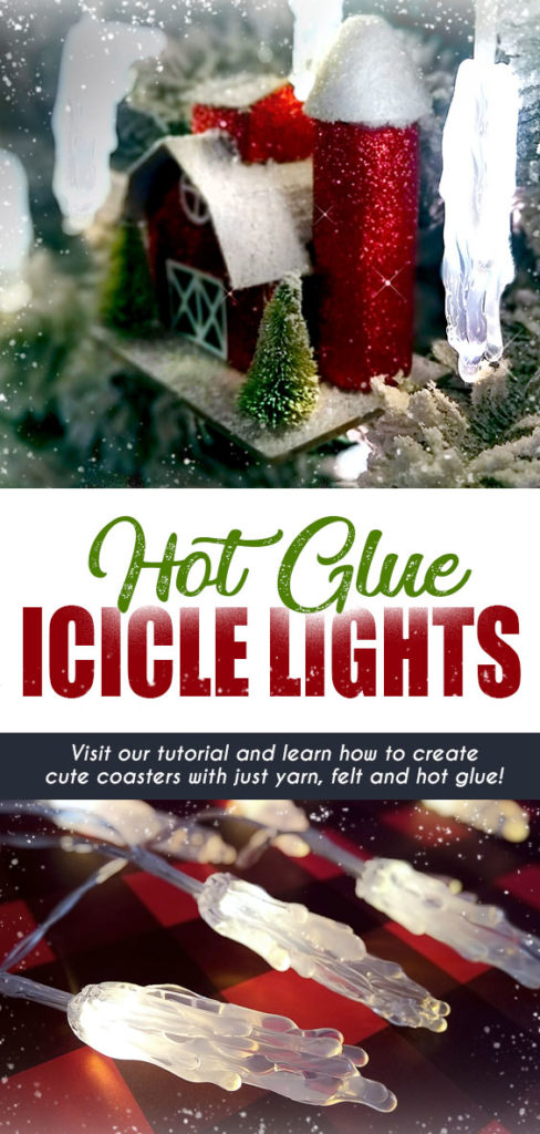 DIY Hot Glue Icicle Lights - Create these festive icicle lights with AdTech hot glue! Visit the AdTech blog to learn how to make your own hot glue stick icicle lights for Christmas, Hanukkah or Winter - plus many more amazing projects! #hotglue #gluegun #gluesticks #adtech #thisishotglue #thestudio #icicles #holidaylights #christmaslights #Christmascraft #wintercraft #christmasornaments