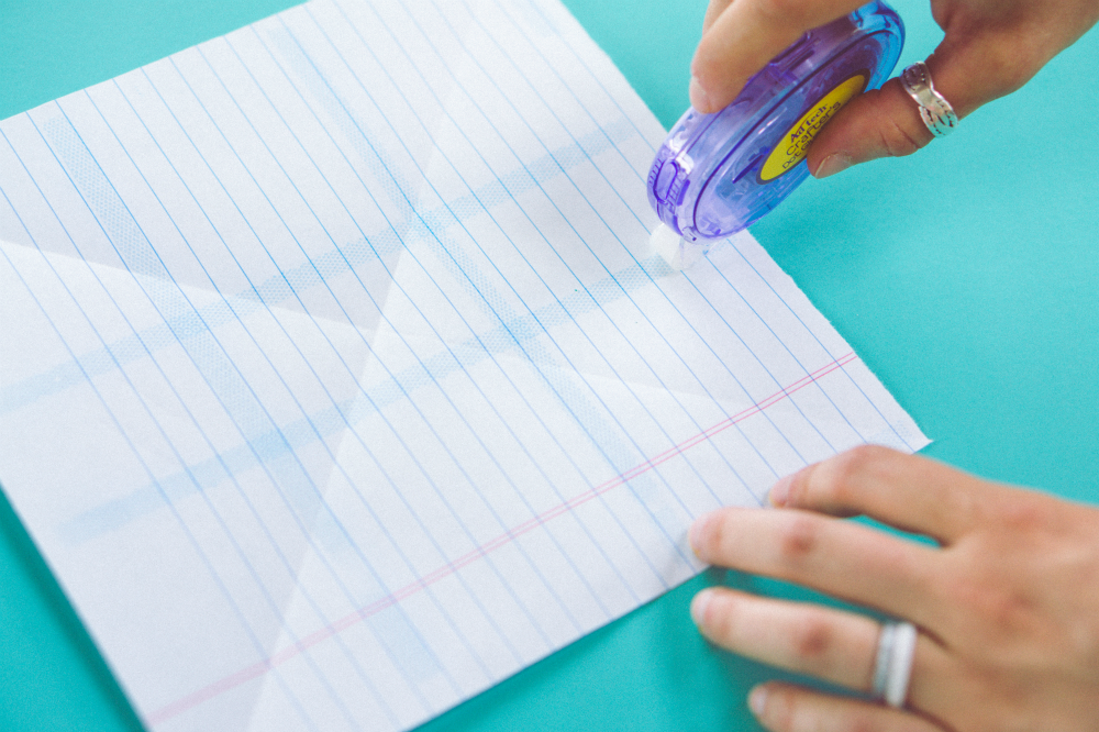 Origami Solution for paper that is not double sided