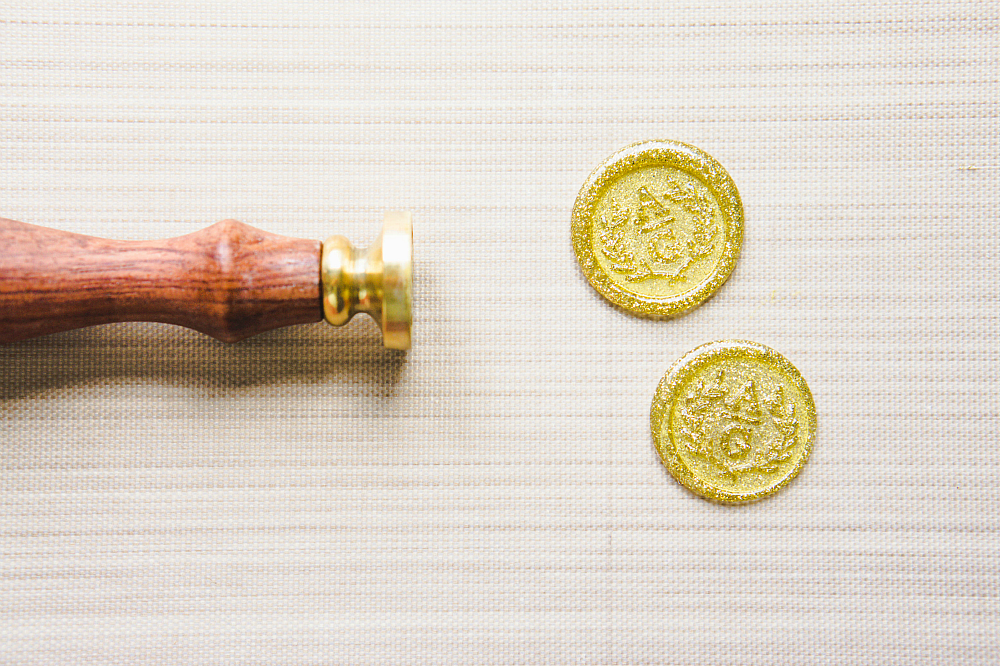 Make your invitations fancy with these easy faux wax seals!