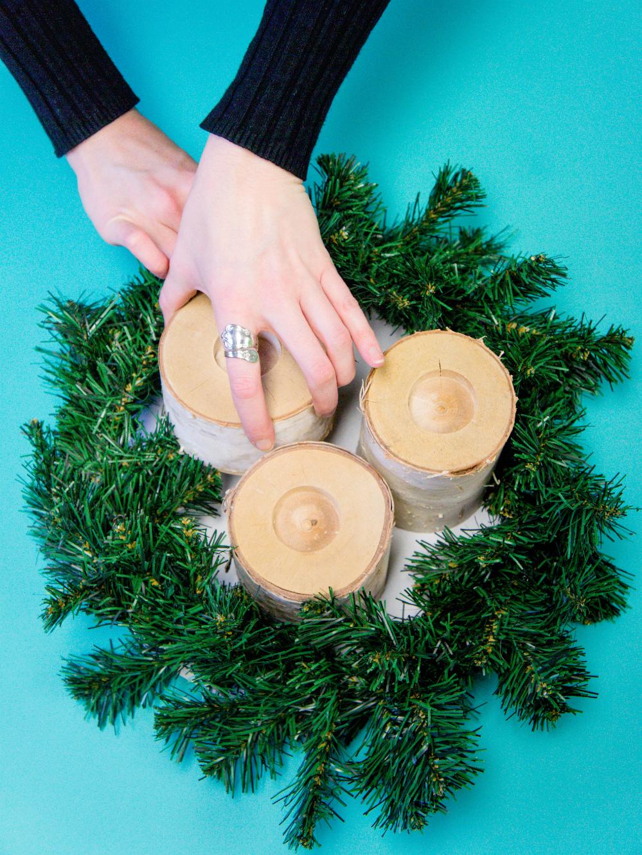 Christmas Candle Centerpiece DIY | AdTech Studio Blog