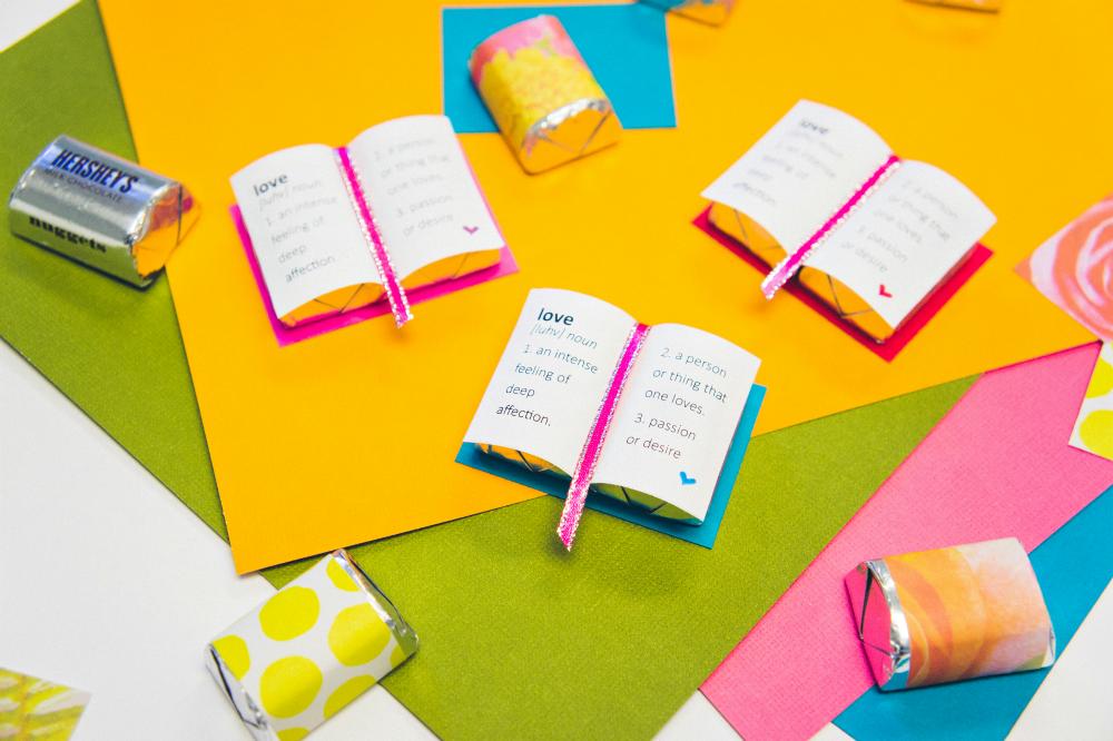 "Chocolate Valentine's Day ""Book of Love"" | Easy DIY | The Studio Blog"