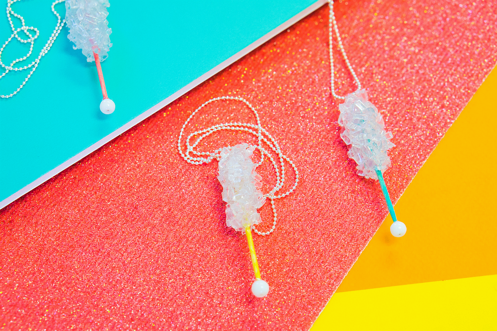 """""""Rock Candy"""" Necklace from Hot Glue! 