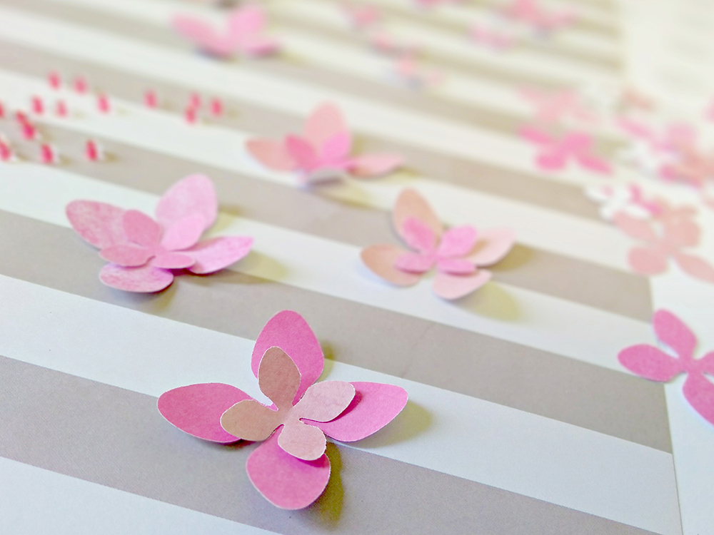 Spring Tree: Add paper flowers